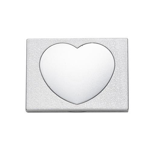 Espelho de Bolsa Formato Coração Personalizado