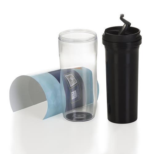Copo plástico 350ml porta foto Personalizado