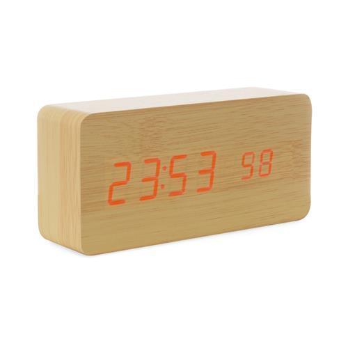 Relógio de Madeira Led Personalizado