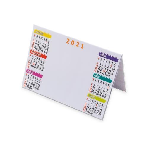 Calendário Plástico de Mesa  Personalizado