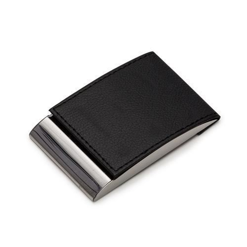 Porta Cartão Metal e Couro Personalizado