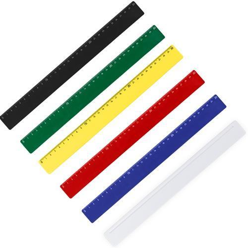 Régua Plástica 30cm Colorida Personalizada