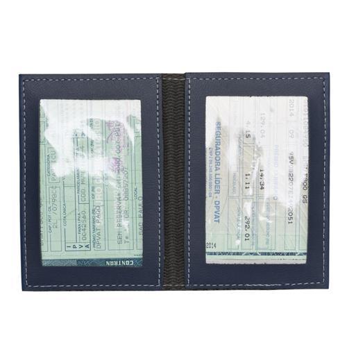 Porta Documentos Azul Personalizado