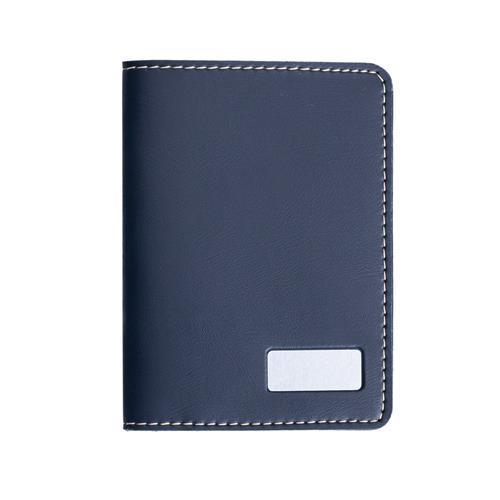 Porta Passaporte Azul Personalizado